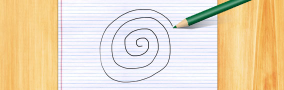 A spiral drawing